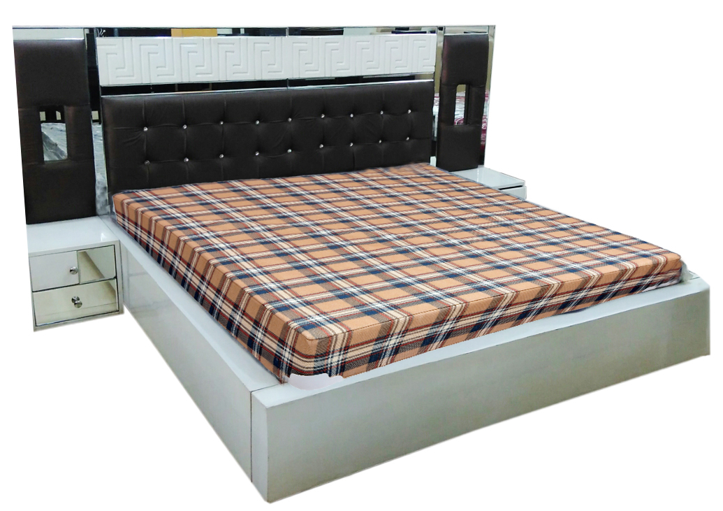 Designer double bed 88 dream furniture for Double bed diwan