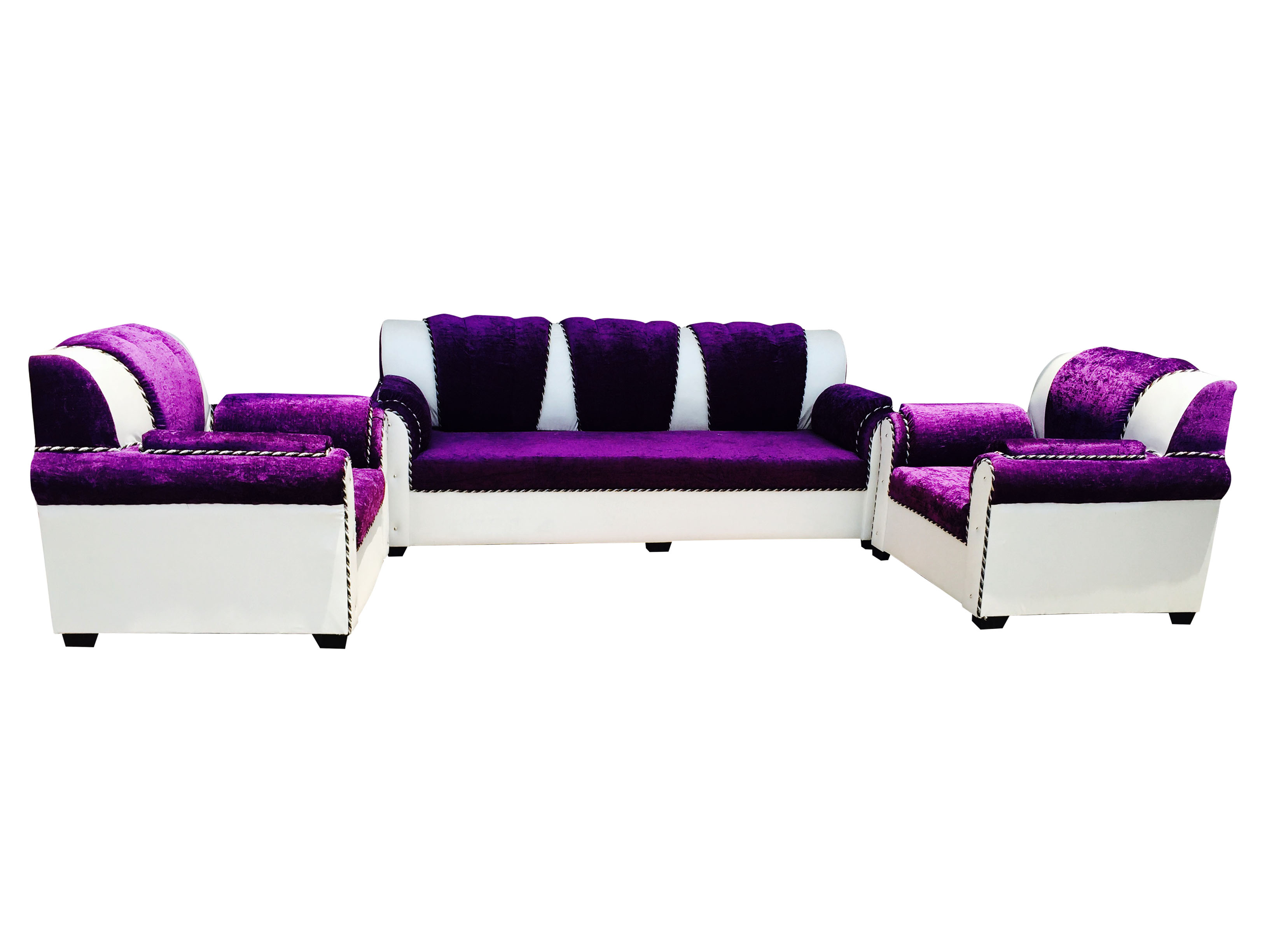 Butterfly 5 Seater Sofa Set Purpal White Dream Furniture
