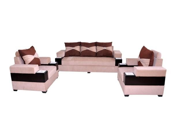 Sora 5-Seater Sofa Set Dark Brown